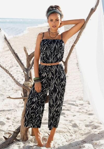BUFFALO Culotte-Overall in schwarz / naturweiß, Modelansicht