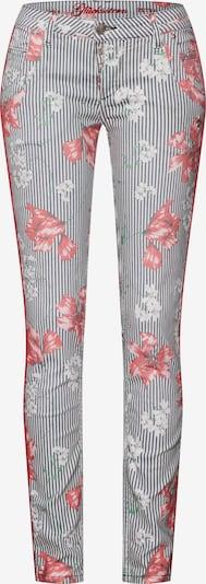Jeans 'Petra' Glücksstern pe albastru / roșu / alb, Vizualizare produs