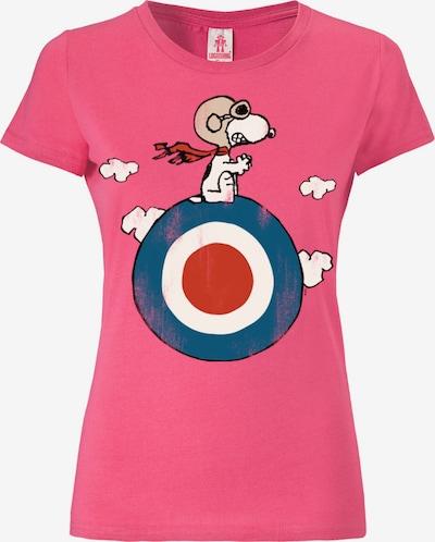 LOGOSHIRT T-Shirt 'Snoopy' in blau / pink / rot / weiß, Produktansicht