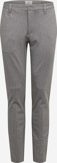 Only & Sons Chino 'MARK' in de kleur Grijs / Wit, Productweergave