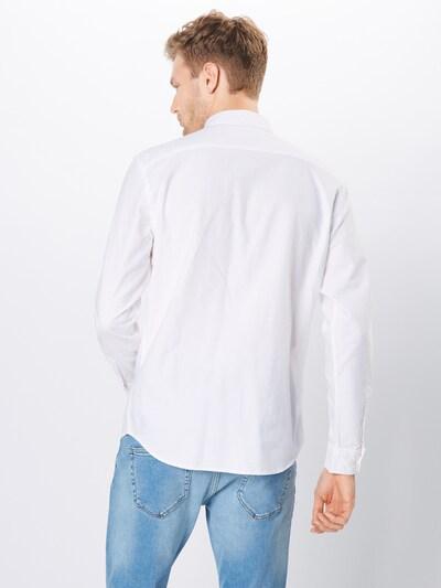 Dalykiniai marškiniai 'JJEOXFORD LOGO SHIRT L/S NOOS' iš JACK & JONES , spalva - balta: Vaizdas iš galinės pusės