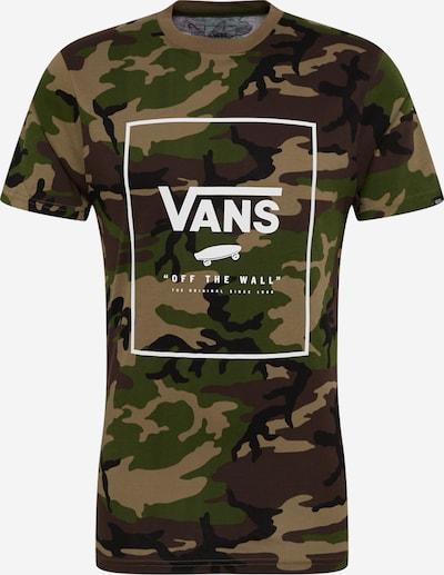 VANS Shirt 'PRINT BOX' in de kleur Groen / Kaki / Wit, Productweergave