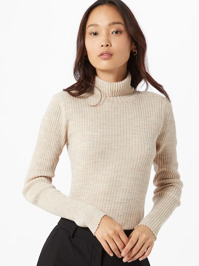 SELECTED FEMME Sweter 'COSTA' w kolorze beżowym, Podgląd na modelu(-ce)