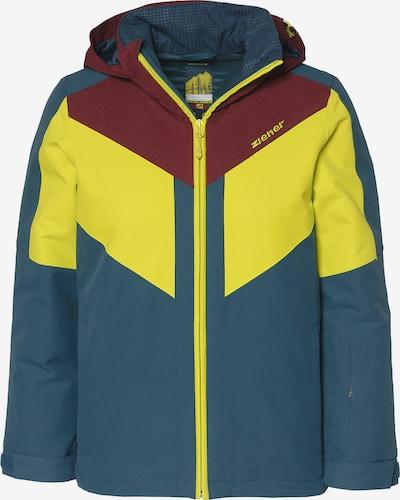 ZIENER Skijacke in blau / gelb, Produktansicht