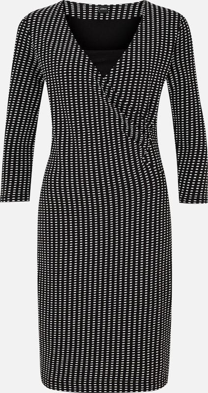 S.Oliver schwarz LABEL Jacquard-Kleid in schwarz-and-Weiß in schwarz   weiß  Große Preissenkung
