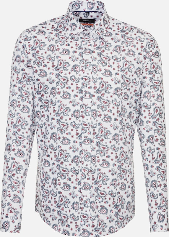 SEIDENSTICKER Businesshemd in dunkelblau   rot     weiß  Mode neue Kleidung 716654