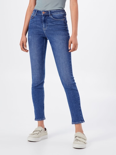 PIECES Jeans 'PCIRENE SLIM MW ANK JEANS' in blue denim: Frontalansicht