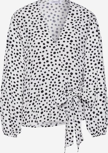 EDITED Bluse 'Franca' in schwarz / weiß, Produktansicht