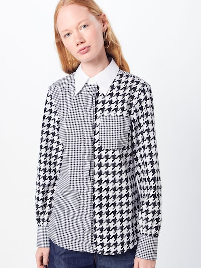 TOMMY HILFIGER Bluzka w kolorze czarny / białym, Podgląd na modelu(-ce)