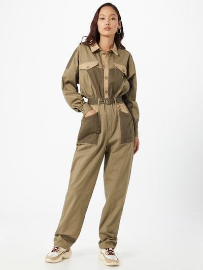 mbym Overal 'Xelia' - hnědá / khaki, Model/ka