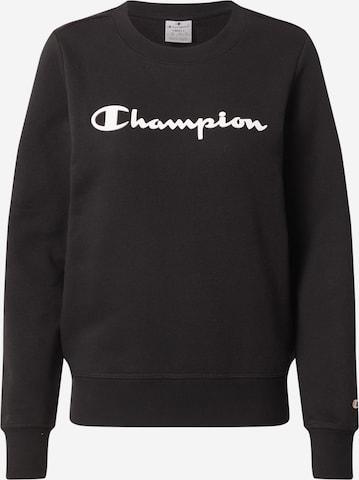 Champion Authentic Athletic Apparel Sweatshirt in Black