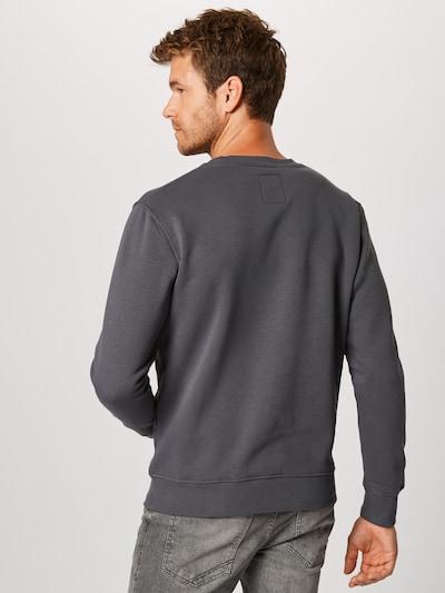 Bluză de molton ALPHA INDUSTRIES pe gri închis: Privire spate