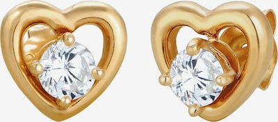 ELLI Ohrringe 'Herz', Doppelstecker in gold / silber: Frontalansicht