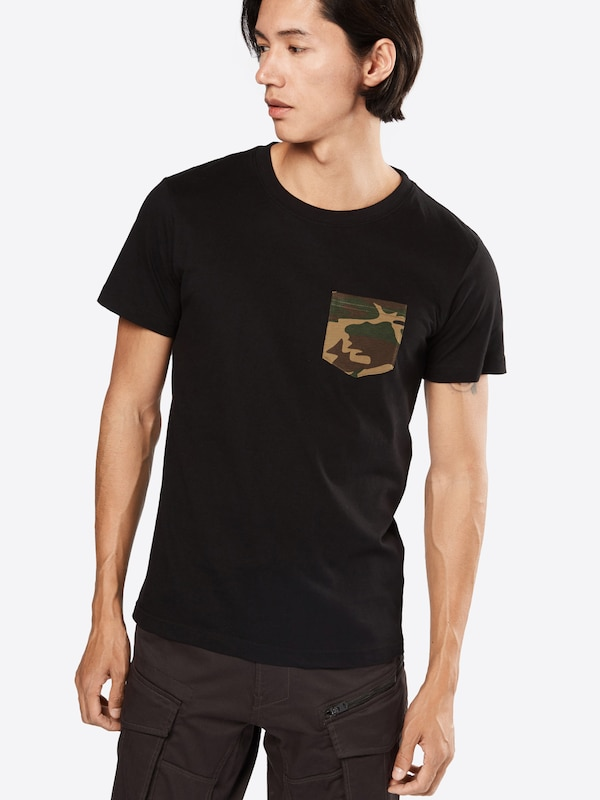 Urban Classics T-shirt Camo Pocket Tee