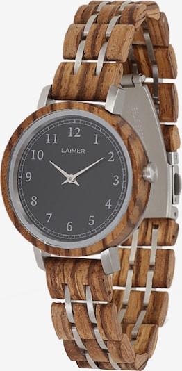 LAiMER Uhr 'Elly' in braun / silber, Produktansicht