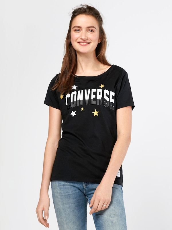 CONVERSE T-Shirt 'METALLIC STAR SUPIMA COTTON'