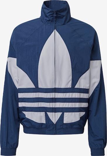 ADIDAS ORIGINALS Big Trefoil Adicolor Sportmode Sweatjacke in blau / weiß, Produktansicht