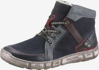KACPER Snowboots in nachtblau / grau / karminrot / weiß, Produktansicht