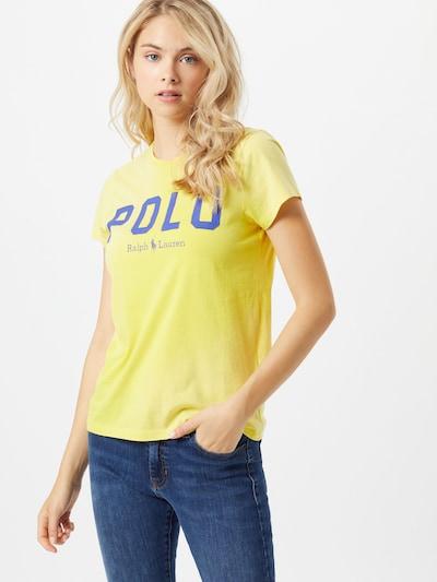 POLO RALPH LAUREN T-Shirt in dunkelblau / gelb: Frontalansicht