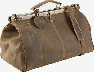 Harold's Bügel-Reisetasche 'Antik' in ecru: Frontalansicht