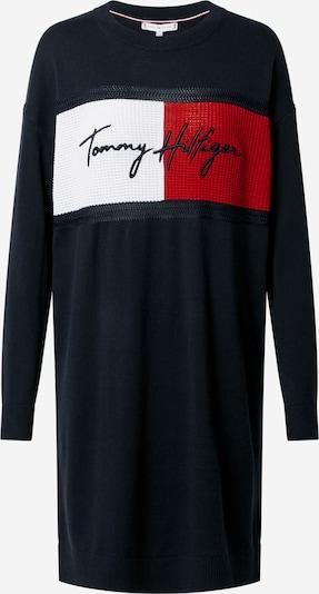 TOMMY HILFIGER Robes en maille en bleu marine / rouge / blanc, Vue avec produit