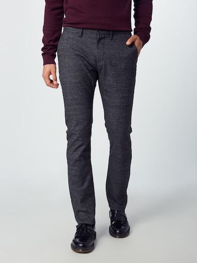 TOM TAILOR Chinohose 'smart' in grau / schwarz, Modelansicht