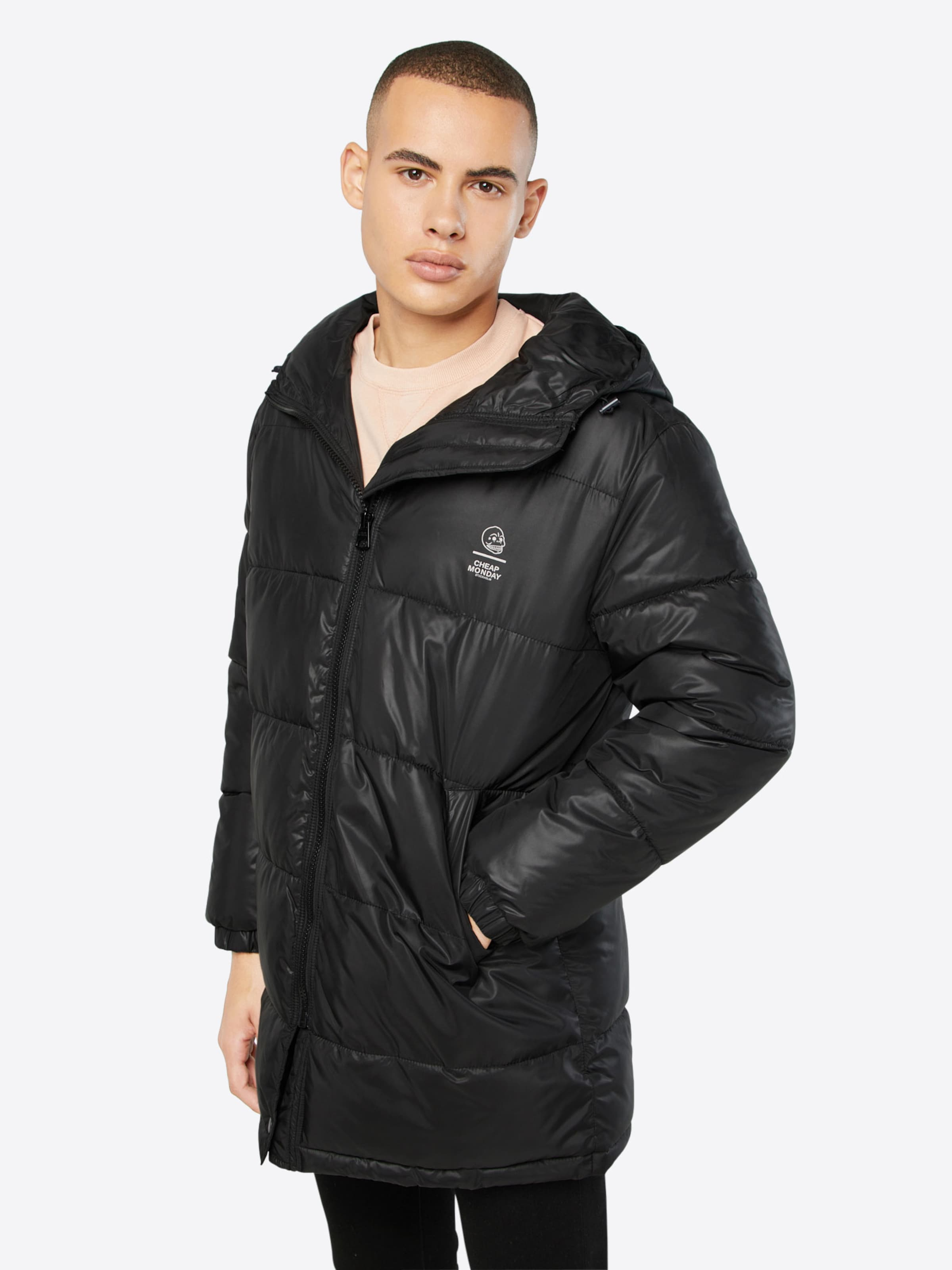 CHEAP MONDAY Winterjas 'Cocoon jacket' in Zwart | ABOUT YOU