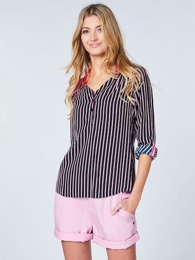 CHIEMSEE Bluse in pink / schwarz, Modelansicht