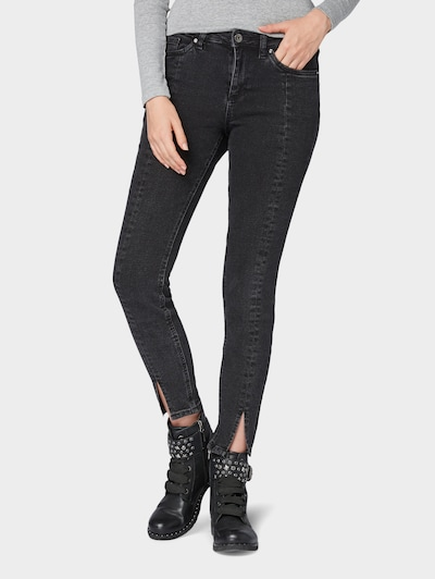 TOM TAILOR DENIM Jeans 'Nela' in de kleur Black denim, Modelweergave