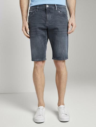TOM TAILOR Bermuda Jeans 'Josh' in taubenblau, Modelansicht