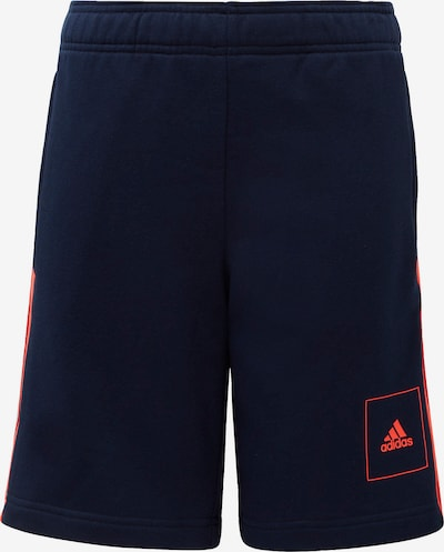 Pantaloni sport ADIDAS PERFORMANCE pe albastru închis / portocaliu neon, Vizualizare produs
