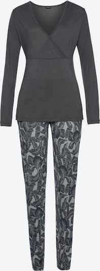 LASCANA Pijama en gris / antracita, Vista del producto