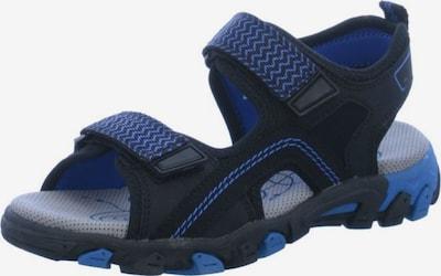 SUPERFIT Sandalen in blau / schwarz: Frontalansicht