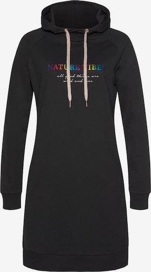 LASCANA LASCANA Sweatkleid in schwarz, Produktansicht