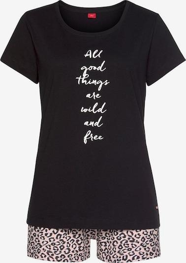 s.Oliver Pyjama in schwarz, Produktansicht