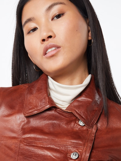 FREAKY NATION Jacke 'Miss Marble' in braun: Frontalansicht