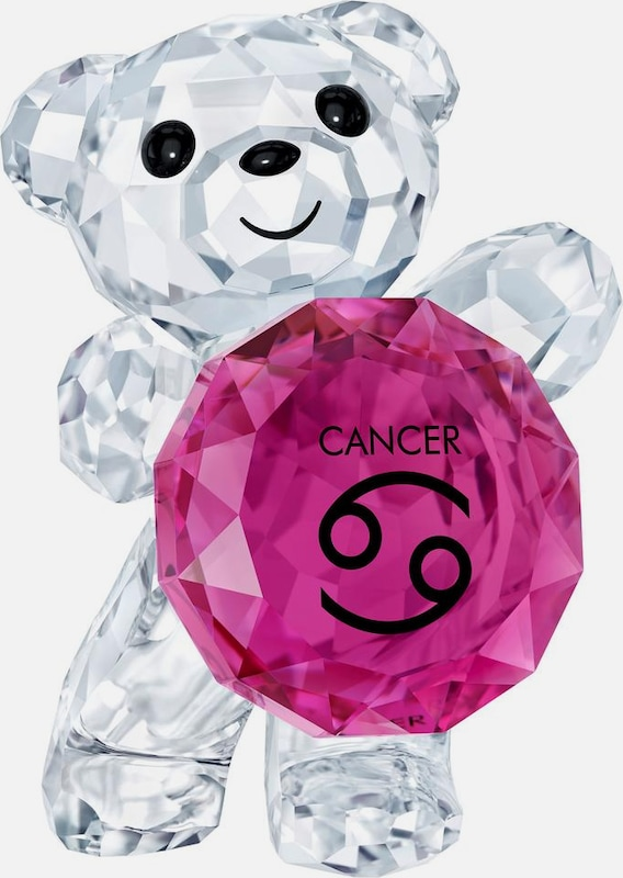 Swarovski Dekofigur 'Kris Bear - Cancer, 5396299' in lila / transparent: Frontalansicht