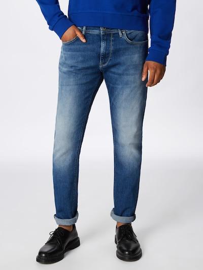 Pepe Jeans Jeans 'STANLEY' in de kleur Blauw denim, Modelweergave
