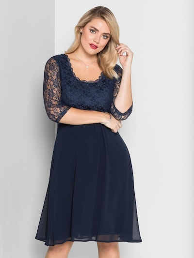 SHEEGO Cocktailkleid in marine, Modelansicht