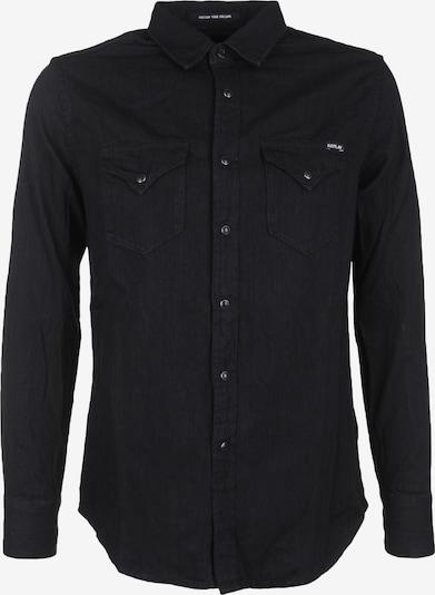 REPLAY Hemd mit Druckknöpfen in schwarz, Produktansicht