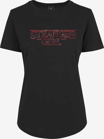 Merchcode T-shirt en rouge / noir, Vue avec produit