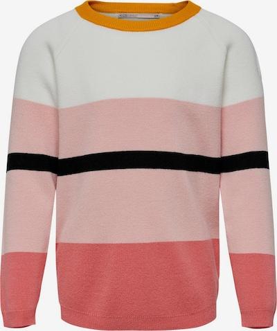 KIDS ONLY Pullover 'NORA' in gelb / rosa / schwarz / weiß, Produktansicht