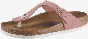 BIRKENSTOCK T-Bar Sandals 'Gizeh' in Pink
