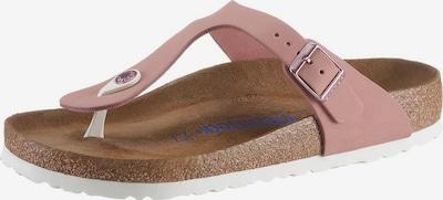 BIRKENSTOCK Zehentrenner 'Gizeh' in rosa / silber, Produktansicht