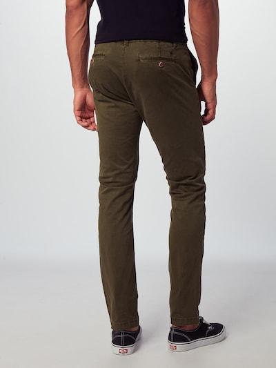 Hailys Men Chino hlače 'Mika'   kaki barva: Pogled od zadnje strani