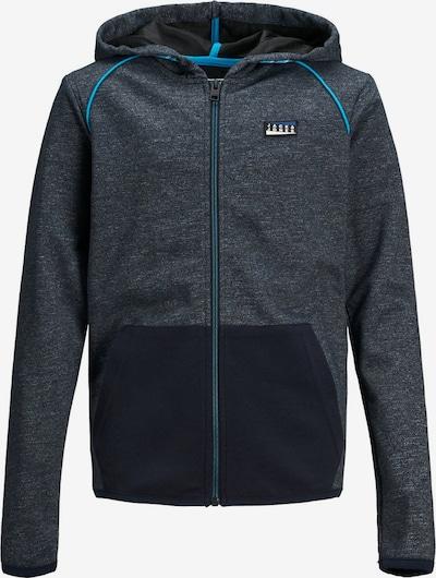 Jack & Jones Junior Jungs Kapuzen Reißverschluss Sweatshirt in graumeliert, Produktansicht