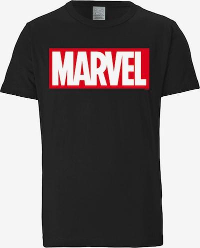 LOGOSHIRT T-Shirt 'Marvel' in hellrot / schwarz / weiß, Produktansicht