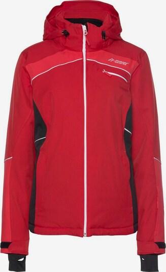 Maier Sports Jacke in rot / schwarz / weiß, Produktansicht