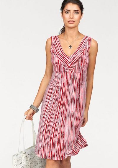 BOYSEN'S Jerseykleid in rot / weiß, Modelansicht