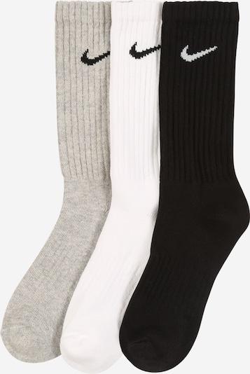 NIKE Športové ponožky 'Cushion Crew Training Sock' - svetlosivá / čierna / biela, Produkt
